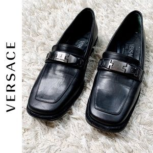 Versace Jeans Couture Classic Black Loafers